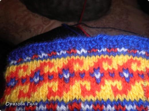 Мастер-класс Вязание: Яркие носки с орнаментом. Нитки. Фото 16
