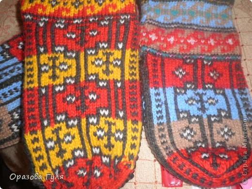 Мастер-класс Вязание: Яркие носки с орнаментом. Нитки. Фото 1