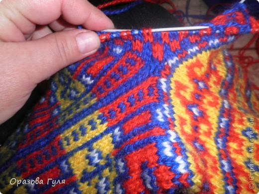 Мастер-класс Вязание: Яркие носки с орнаментом. Нитки. Фото 19