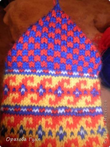 Мастер-класс Вязание: Яркие носки с орнаментом. Нитки. Фото 20