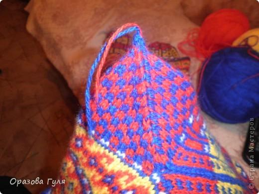 Мастер-класс Вязание: Яркие носки с орнаментом. Нитки. Фото 21