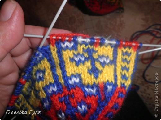 Мастер-класс Вязание: Яркие носки с орнаментом. Нитки. Фото 13