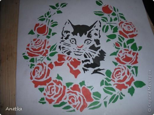 Вытынанка: Котёнок