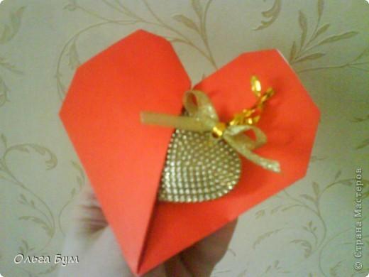 Мастер-класс Оригами: БЬЮЩЕЕСЯ СЕРДЦЕ. Бумага Валентинов день, День рождения, Свадьба. Фото 1