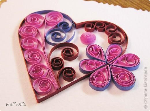 Мастер-класс, Открытка Квиллинг: МК Готовимся к дню Святого Валентина! Бумага Валентинов день. Фото 13