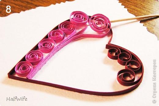 Мастер-класс, Открытка Квиллинг: МК Готовимся к дню Святого Валентина! Бумага Валентинов день. Фото 6