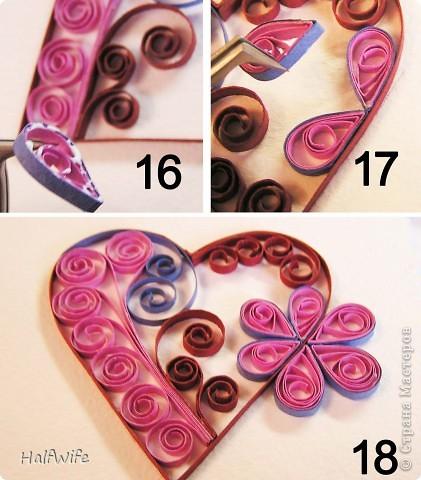Мастер-класс, Открытка Квиллинг: МК Готовимся к дню Святого Валентина! Бумага Валентинов день. Фото 11