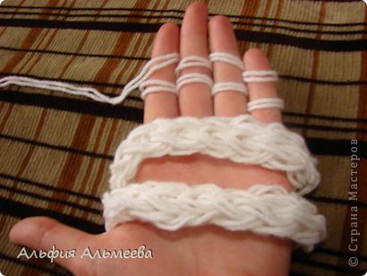 Мастер-класс Вязание: Вязание на пальцах Пряжа Отдых. Фото 1