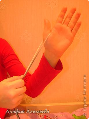 Мастер-класс Вязание: Вязание на пальцах Пряжа Отдых. Фото 2