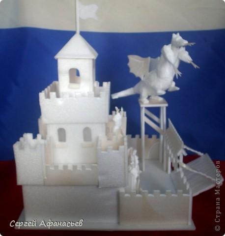 Поделка, изделие Вырезание: замок змея горыныча Пенопласт Отдых. Фото 2
