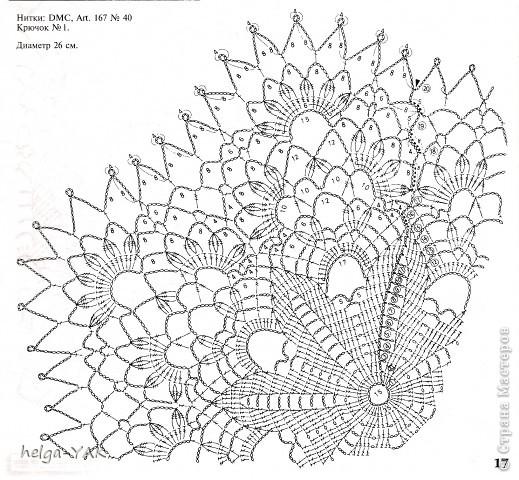 Салфетки схемы вязание