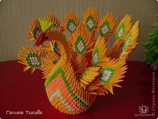 Оригами жар птица схема сборки