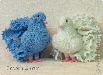 Схеме вязаного голубя