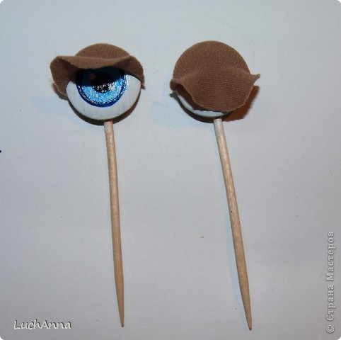 Глаза для куклы из капрона