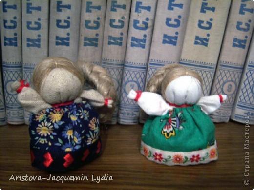 Куклы, Мастер-класс, Оберег: Кукла-счастье Вата, Нитки, Тесьма, Ткань. Фото 1