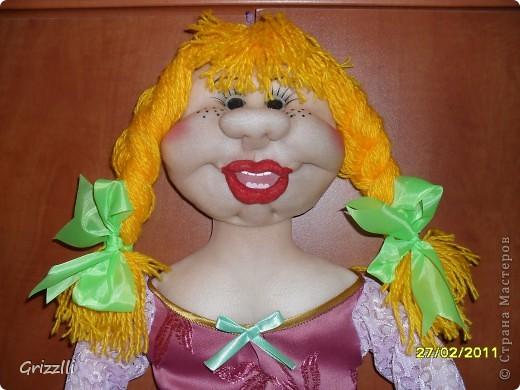 Как сделать улыбку кукле из капрона