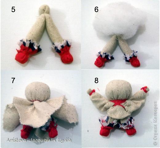 Куклы, Мастер-класс, Оберег: Кукла-счастье Вата, Нитки, Тесьма, Ткань. Фото 4