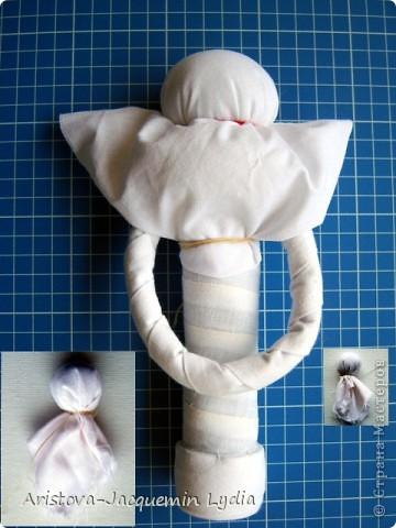 Куклы, Мастер-класс, Оберег: Кукла-ведучка Вата, Нитки, Тесьма, Ткань 8 марта. Фото 4