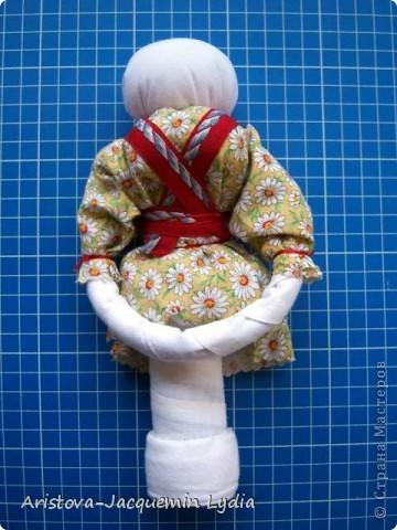 Куклы, Мастер-класс, Оберег: Кукла-ведучка Вата, Нитки, Тесьма, Ткань 8 марта. Фото 6