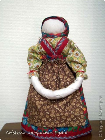Куклы, Мастер-класс, Оберег: Кукла-ведучка Вата, Нитки, Тесьма, Ткань 8 марта. Фото 7
