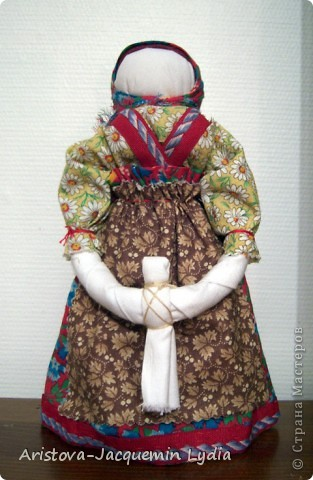 Куклы, Мастер-класс, Оберег: Кукла-ведучка Вата, Нитки, Тесьма, Ткань 8 марта. Фото 8