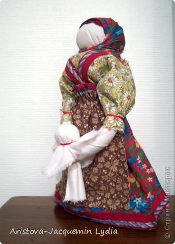 Куклы, Мастер-класс, Оберег: Кукла-ведучка Вата, Нитки, Тесьма, Ткань 8 марта. Фото 9