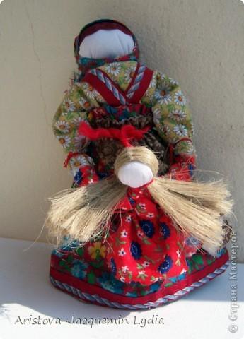 Куклы, Мастер-класс, Оберег: Кукла-ведучка Вата, Нитки, Тесьма, Ткань 8 марта. Фото 10