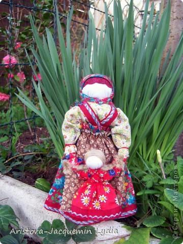 Куклы, Мастер-класс, Оберег: Кукла-ведучка Вата, Нитки, Тесьма, Ткань 8 марта. Фото 11