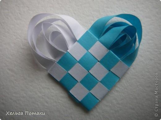 Мастер-класс, Поделка, изделие Бумагопластика, Плетение: Плетенное сердечко (МК) Бумага. Фото 1
