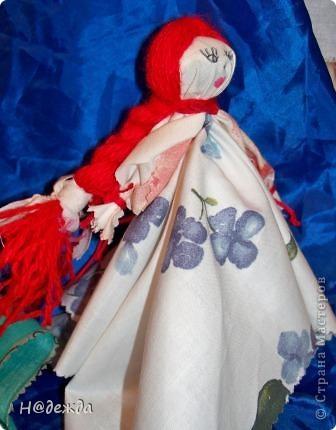 Куклы, Мастер-класс, Оберег Шитьё: Русские тряпичные куклы на весну и мини МК Нитки, Ткань 8 марта, День матери, Масленица. Фото 4