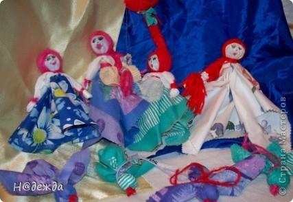 Куклы, Мастер-класс, Оберег Шитьё: Русские тряпичные куклы на весну и мини МК Нитки, Ткань 8 марта, День матери, Масленица. Фото 6
