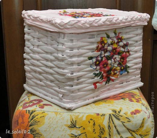 Декор коробки бумагой