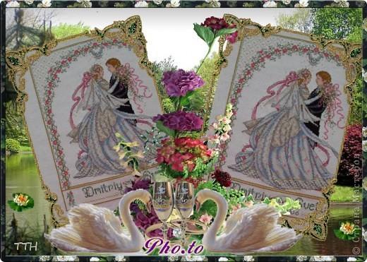 вышивка крестом свадебные