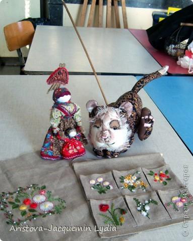 Куклы, Мастер-класс, Оберег: Кукла-ведучка Вата, Нитки, Тесьма, Ткань 8 марта. Фото 14