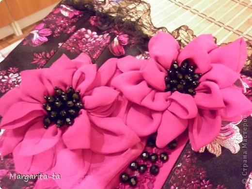 Красивые цветы на платье своими руками 66