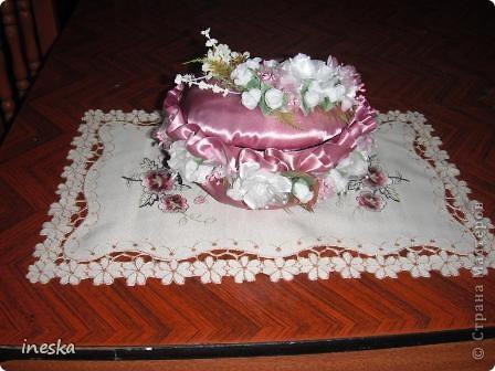 """Мастер-класс, Поделка, изделие Шитьё: Мои шкатулки из пластиковой  посуды  """"Розовая нежность"""" 8 марта, Валентинов день, День  матери, День рождения. Фото 23"""