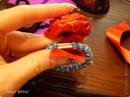 Мастер-класс: МК розы из атласной ленты Ленты.  Фото 10.