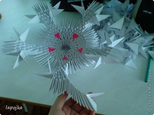 Мастер-класс Оригами модульное: Ваза с бабочками Бумага. Фото 13
