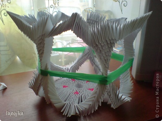 Мастер-класс Оригами модульное: Ваза с бабочками Бумага. Фото 21