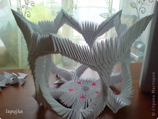 Мастер-класс Оригами модульное: Ваза с бабочками Бумага. Фото 22