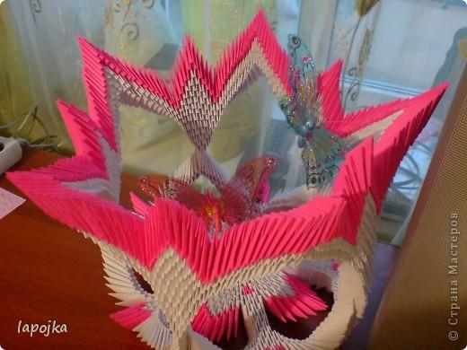 Мастер-класс Оригами модульное: Ваза с бабочками Бумага. Фото 1