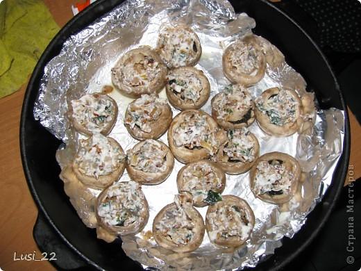 Кулинария, Рецепт кулинарный, : Шампиньоны фаршированные. МК Продукты пищевые . Фото 17