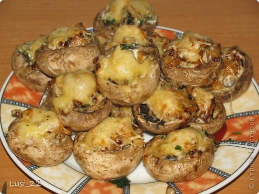 Кулинария, Рецепт кулинарный, : Шампиньоны фаршированные. МК Продукты пищевые . Фото 1