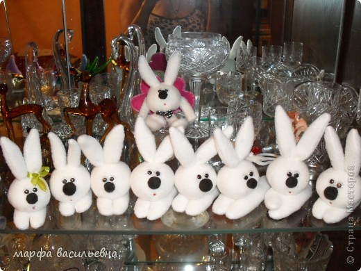 sewing soft toys: bunny for gift