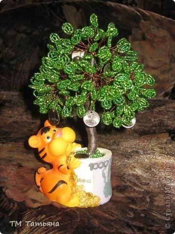 Мастер-класс Бисероплетение: Денежное  дерево.(М К) Бисер. Фото 19