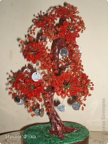 Мастер-класс Бисероплетение: денежное дерево Бисер Дебют.  Фото 11.