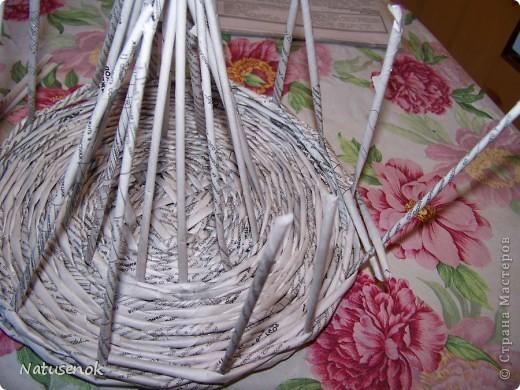 Мастер-класс,  Плетение, : Пасхальная плетенка Бумага газетная Пасха, . Фото 17