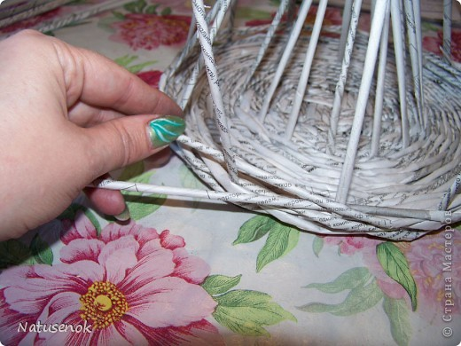 Мастер-класс,  Плетение, : Пасхальная плетенка Бумага газетная Пасха, . Фото 18