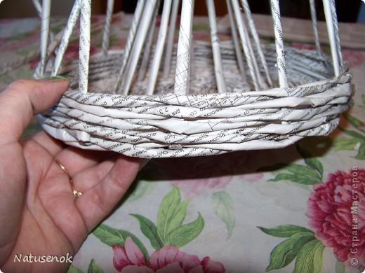 Мастер-класс,  Плетение, : Пасхальная плетенка Бумага газетная Пасха, . Фото 19
