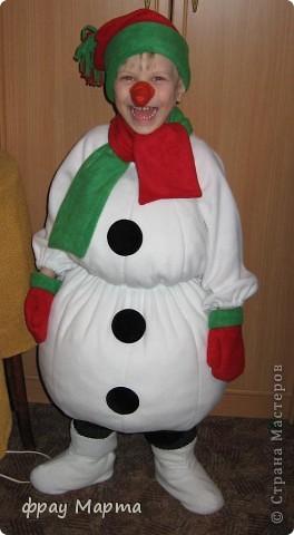 Костюм снеговик своими руками фото